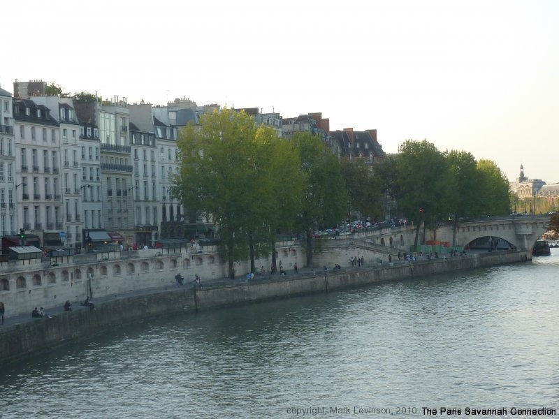 along the Seine, rive gauche