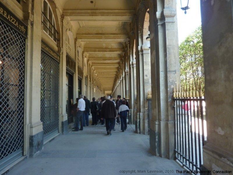 les arcades du palais royal