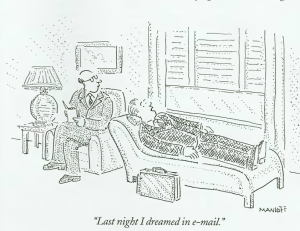 Last night I dreamed in e-mail