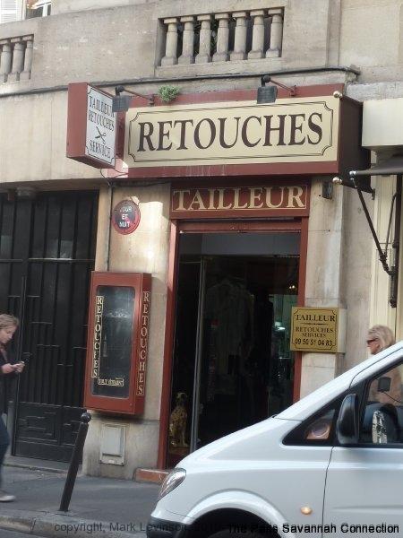 a tailor's or dressmaker's shop