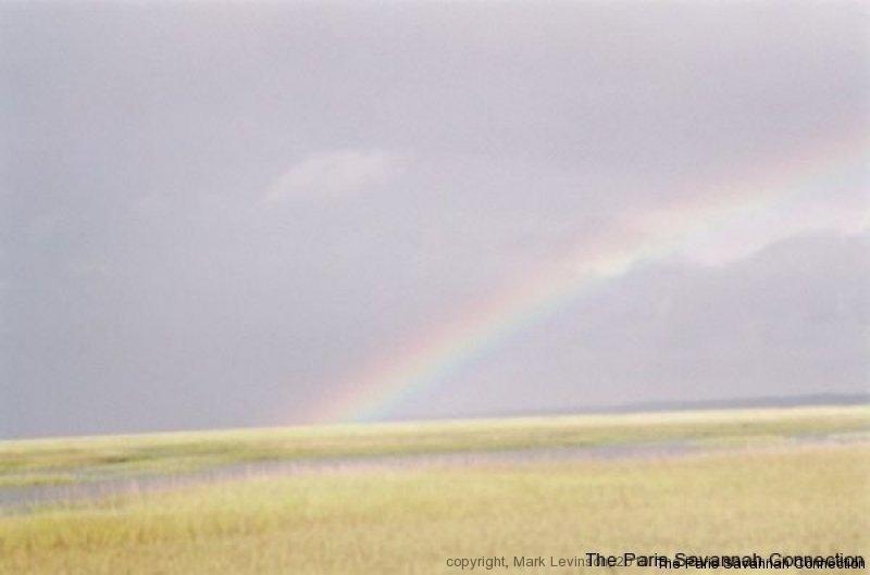 rainbow over marsh